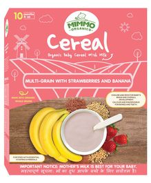 Mimmo Organics Organic Cereal Multigrain With Ragi And More - 200 gm