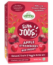 Mimmo Organics Supa Joos Apple, Strawberry And Beetroot Juice Mix - 100 gm