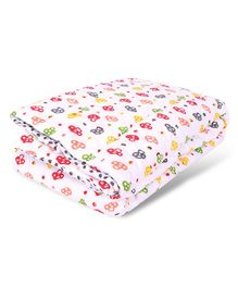 Mom's Home Organic Cotton Summer AC Baby Quilt Blanket Cum Bedspread - Multicolor