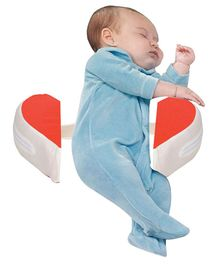 Get It Heart Shape Anti Roll Pillow - Red