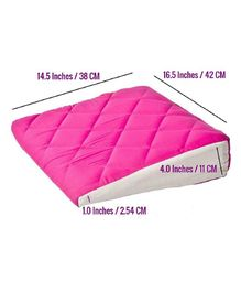 Get It Wedge Baby Pillow With Quilted Cover Extra Large - Pink