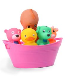 Ratnas Squeezy Babies With Animal Friends (Color & Print May Vary)