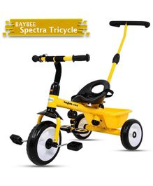 Baybee Spectra Plug & Play Tricycle - Yellow