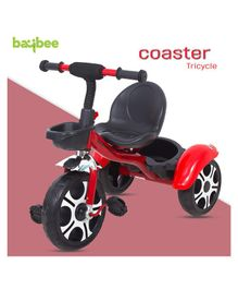 Baybee Coaster Baby Tricycle With Storage Basket - Red Black