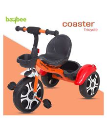 Baybee Coaster Baby Tricycle With Storage Basket - Orange