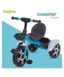 Baybee Coaster Baby Tricycle With Storage Basket - Blue