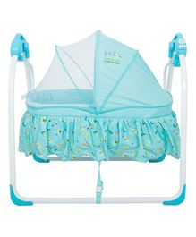 Baybee Electric Baby Cradle That Swings With Music - Blue