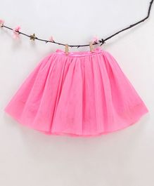 Kidsdew Solid Elasticated Skirt - Pink