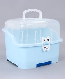 Babyhug 2 in 1 Bottle Drying Rack with Storage Box - Blue (Print May Vary)
