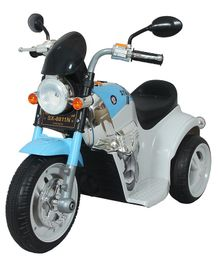 HLX-NMC Battery Operated Fun Cruiser Bike With Music & Light - Blue