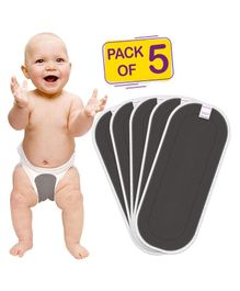 Bembika Cotton Nappy Inserts Pack of 5 - Grey