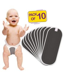 Bembika Cotton Nappy Inserts Pack of 10 - Grey