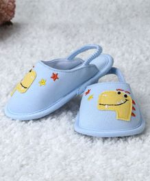 Kidlingss Dinosaur Patch Booties - Blue