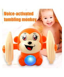 Vibgyor Vibes Light and Sound Funny Rolling Monkey (Colour May Vary)