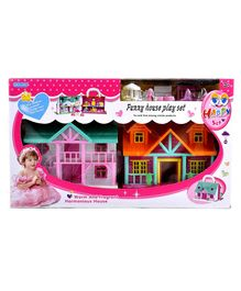 Vibgyor Vibes 2 in 1 Doll House Play Set - Multicolour