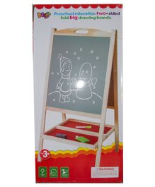 Vibgyor Vibes Big Size Wooden Double Sided Foldable Drawing & Writing Board - Multicolour