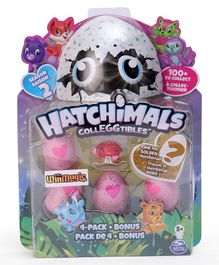 Hatchimals Collectables Bichhu Pack of 4 - Pink