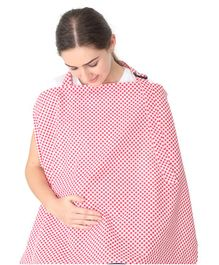 Colorfly Mother's Checks Feeding & Nursing Cover  - Red