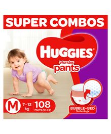 Huggies Wonder Pants Diapers Medium Size Combo Pack of 2 -  54 Pieces Each