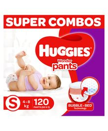 Huggies Wonder Pants Diapers Small Size Combo Pack of 2 -  120 Pieces