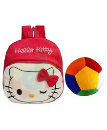 O Teddy Plush Hello Kitty Nursery Bag & Soft Ball Combo Set - Red Cream
