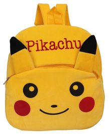 O Teddy Pikachu Plush School Bag Yellow - 14.9 Inches