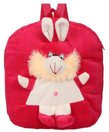 O Teddy Rabbit Plush School Bag Red - 14.9 Inches