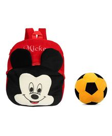O Teddy Plush Mickey Nursery Bag & Soft Ball Combo Set - Red Black