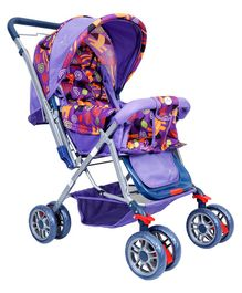 1st Step Pram Cum Stroller With Canopy - Purple
