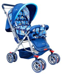 1st Step Pram Cum Stroller With Canopy - Blue