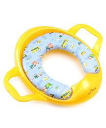 1st Step Cushioned Potty Seat With Handle Vehicle Print - Yellow