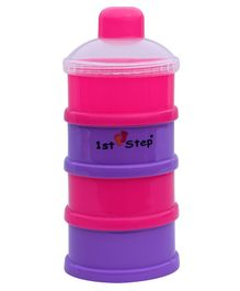 1st Step BPA Free Polypropylene 4-Tier Milk Powder Container - Pink  (Print May Vary)