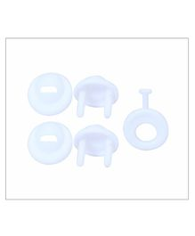 1st Step Socket Protectors With Key - Pack of 6