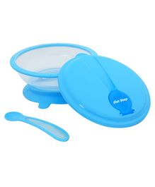 1st Step Microwave Friendly Feeding Bowl With Spoon- Blue