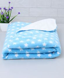 Zoe Poly Wool Blanket Stars Print - Blue