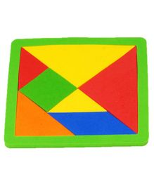 Cutez Tangram Puzzle Play Mat - Multicolour