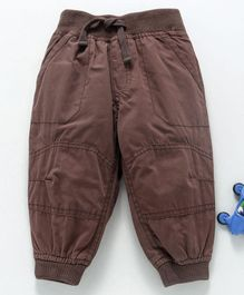 Cucumber Full Length Jogger Pants With Drawstring - Brown