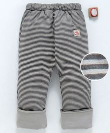 Olio Kids Full Length Turn Up Hem Striped Sinker Lounge Pant - Grey