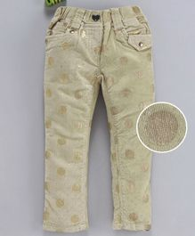 Olio Kids Corduroy Pants Dot Print - Brown
