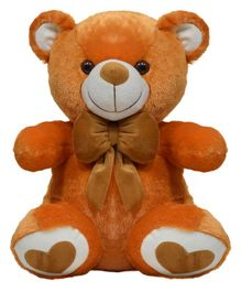 Ultra Teddy Bear Soft Toy With Bow Brown - Height 35.5 cm