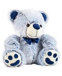 Ultra Teddy Bear Soft Toy With Bow Blue - Height 35.5 cm