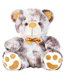 Ultra Teddy Bear Soft Toy With Bow Brown Yellow - Height 43 cm