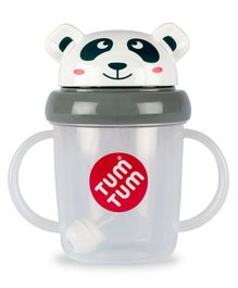 Tum Tum Tippy Up Panda Cup Grey - 200 ml