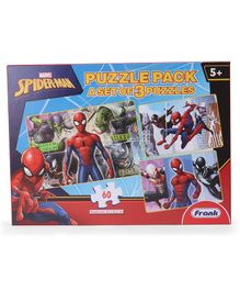 Marvel Spiderman Jigsaw Puzzle Set Of 3 Multicolour - 60 Pieces