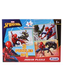 Frank Marvel Spider Man Jigsaw Puzzle Multicolour Set of 3 - 48 Pieces