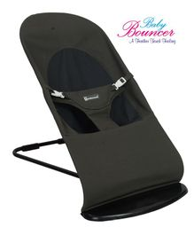 Mothertouch Baby Bouncer With Safety Harness - Olive Green