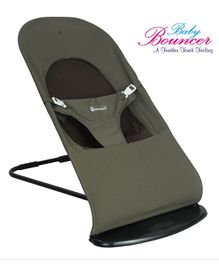 Mothertouch Baby Bouncer With Safety Harness - Moss Green