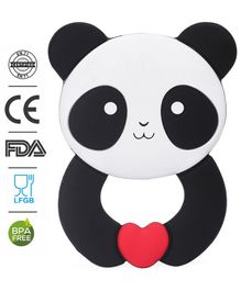 Babyhug 100% Silicone Teether Panda Print - Black & White