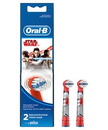 Oral-B Kids Electric Rechargeable Star War Tooth Brush Heads Pack of 2 - Red & Blue