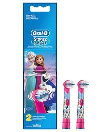 Oral-B Kids Electric Rechargeable Frozen Toothbrush Heads Pack of 2 - Pink & Blue